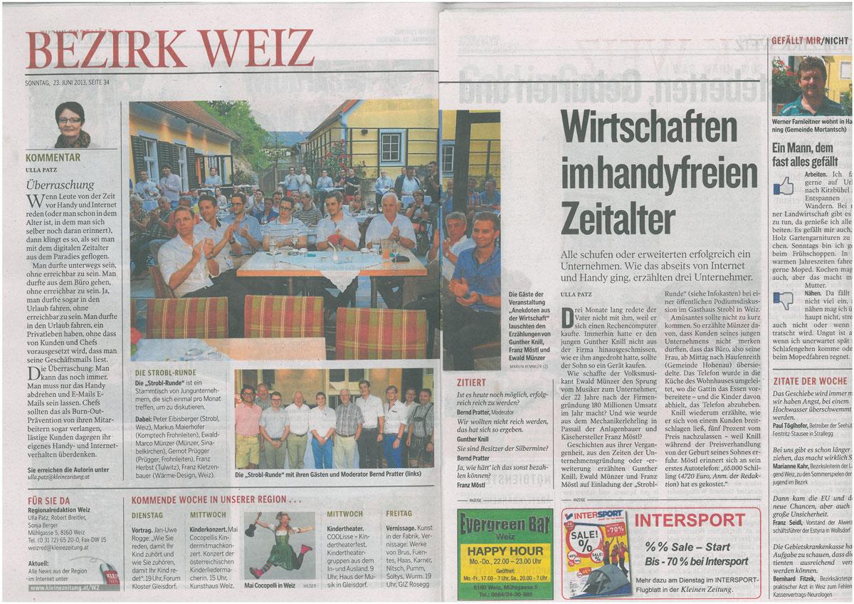 Kleine Zeitung 2013 Strobl Runde